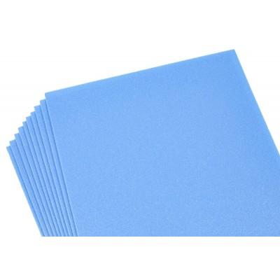 Фоамиран 2мм светло-синий перламутровый, 10 листов 20х30, 8991 арт.:8991