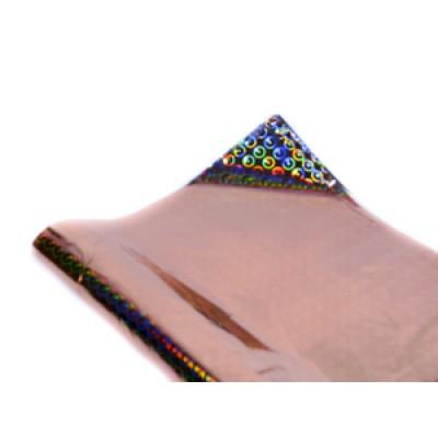 Полисилк голограммный терракотовый, Unison, HZ011-4 арт.:Пт 404.4