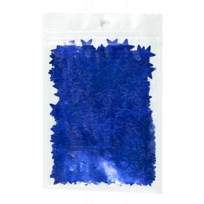 Конфетти звездочки, синие 15мм, 15гр арт.:6205