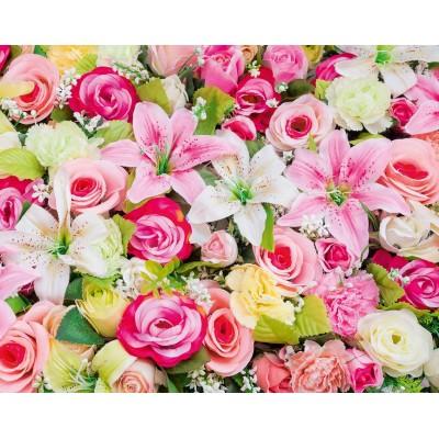 Мелованная бумага - яркие цветы, Unison,  PVM10-10 арт.:PVM10-10
