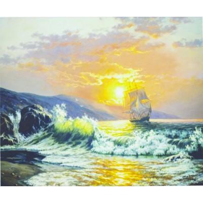 Картина по номерам 'Парусник на рассвете' 1022 арт.:1022