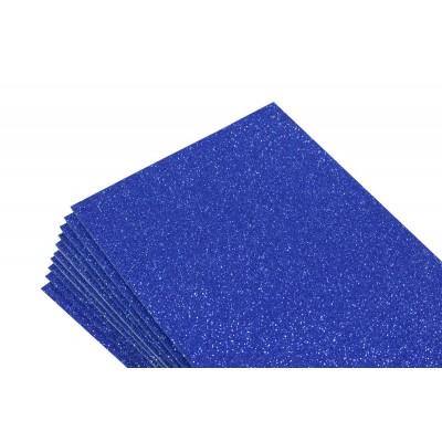 Фоамиран 1,8мм темно синий  с глитером -10листов- самоклейка, 8677 арт.:8677