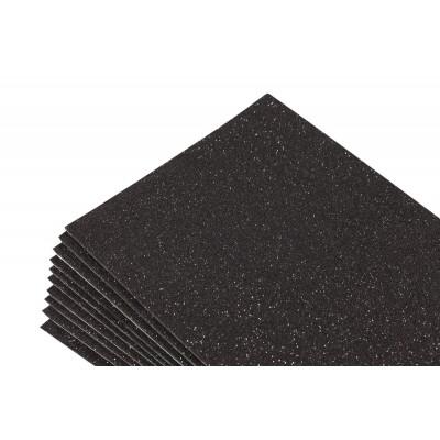 Фоамиран 1,8мм черный  с глитером -10листов- самоклейка, 8681 арт.:8681
