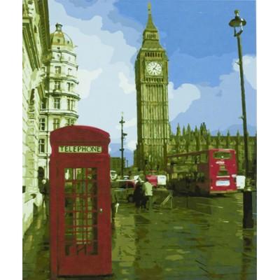 Картина по номерам 'Тауэрск.мост-Лондон' 40*50см,крас.-акрил,кисть-3шт арт.:9214