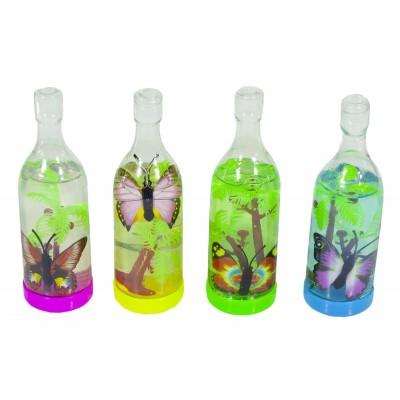Слайм 'бутылка насекомые' с игрушкой  90г  12шт/уп., 0417