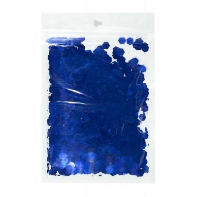 Конфетти шестигранник, синий 6мм, 15гр арт.:6305