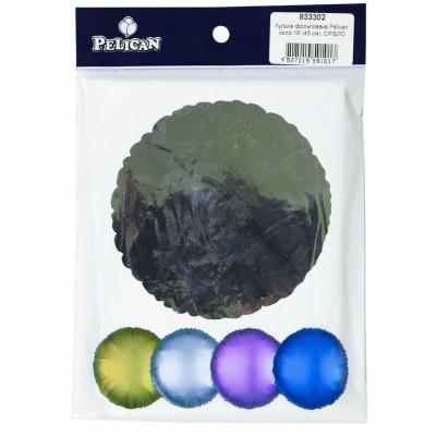 Шарик фольгированный PELICAN круг 18 '(45см) Серебро (5шт) арт.:833302