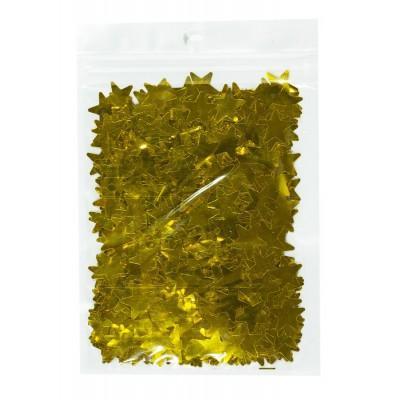 Конфетти звездочки, золото 15мм, 15гр арт.:6201