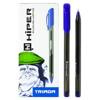 Ручка гелевая синяя Hiper Triada HG-205