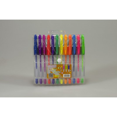 Ручки гелевые неоновые 12цв, Unison, арт.:M-1501-12