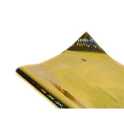 Полисилк голограммный золотой, Unison, HZ011-2 арт.:Пт 404.2