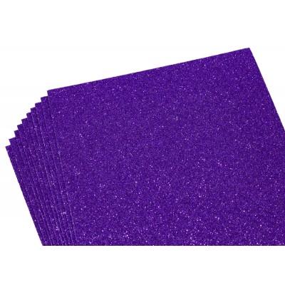 Фоамиран 1,8мм темно-фиолетовый с глитером -10листов- самоклейка, 8679 арт.:8679