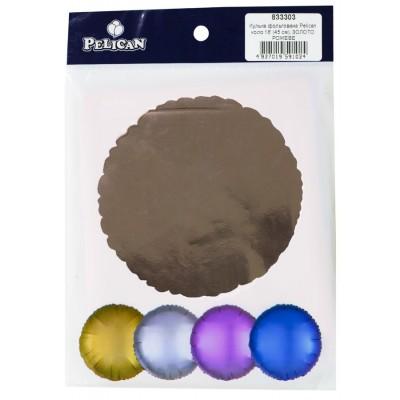 Шарик фольгированный PELICAN круг 18 '(45см) Розовое Золото (5шт) арт.:833303