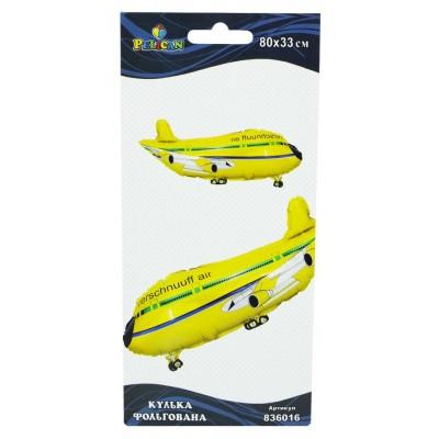Шарик фольгированный Pelican, самолет желтый, 80см, 836016 арт.:836016