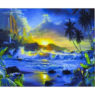 Картина по номерам 'Тропический пейзаж' 40*50см,крас.-акрил,кисть-3шт. арт.:9293