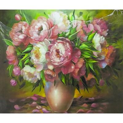 Картина по номерам 40х50,  'Весенние пиони' арт.:8404RSB_O
