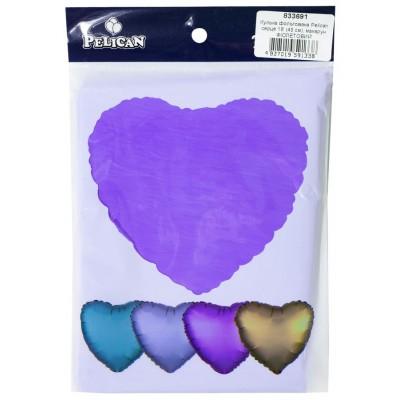 Шарик фольгированный PELICAN сердце 18 '(45см) макарун Фиолетовый (5шт арт.:833691
