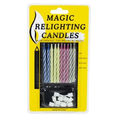 Набор свечей для торта 6 см 'МЕДЖИК', незатухающие 10шт / уп арт.:868098