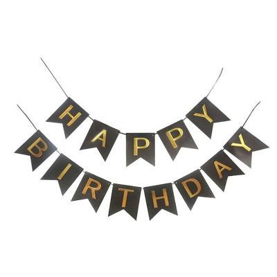 Гирлянда-флажки HAPPY BIRTHDAY 16см,черный 871058 арт.:871058