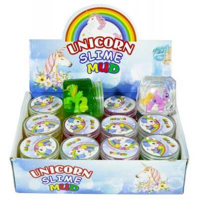 Слайм с игрушкой 'Unicorn' 150г mix 12шт/уп., арт.:2069
