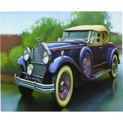 Картина по номерам 'Ретро авто' 40*50см,крас.-акрил,кисть-3шт. арт.:5004_B