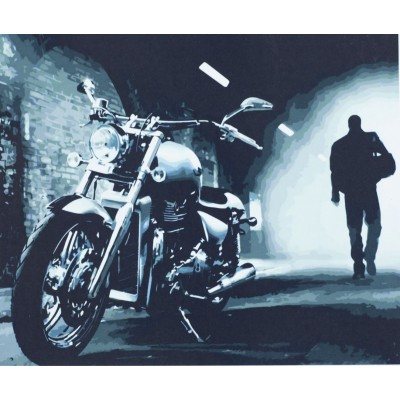 Картина по номерам 'Мотоцикл' 40*50см, 1182 арт.:1182
