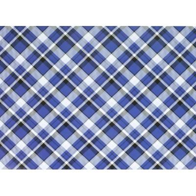 Мелованная бумага - синяя шотландка, Unison,   PVM10-103 арт.:PVM10-103