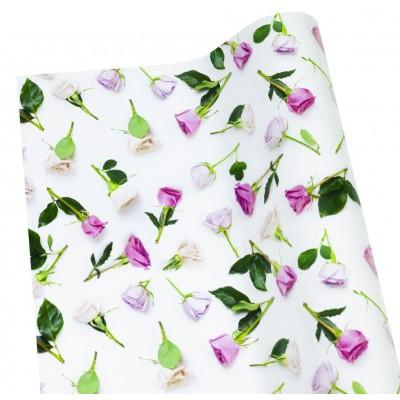 Мелованная бумага - нежные розы , 1000х700, PVM10-61 арт.:PVM10-61
