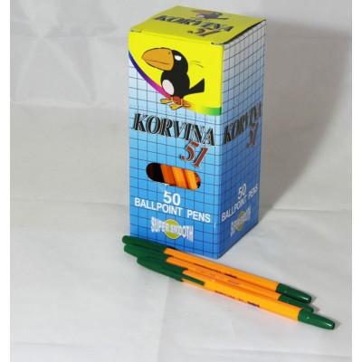 Ручка шариковая зеленая 51