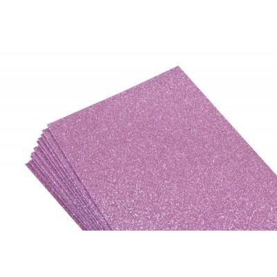 Фоамиран 1,8мм ярко-розовый  с глитером -10листов- самоклейка, 8671 арт.:8671