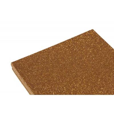 Фоамиран 1,8мм оранжевый с глитером -10листов, 7940 арт.:7940
