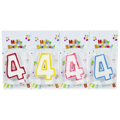Свеча для торта 'Цифры '4', 7,5х4,0см, 5151-4 арт.:5151-4