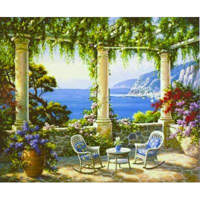 Картина по номерам 'Средиземноморская терраса ' 40*50см,крас.-акрил арт.:9236