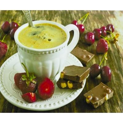 Картина по номерам 'Чашка кофе' 40*50см,крас.-акрил,кисть-3шт. арт.:9466