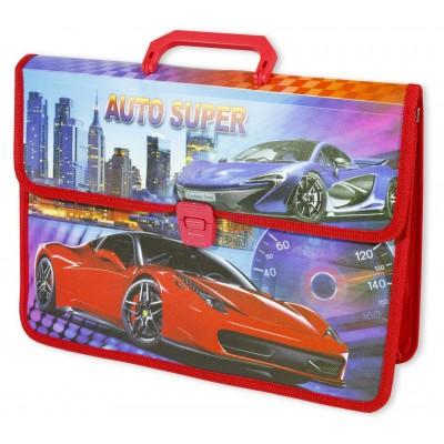 Папка-портфель 'Racing car+Girls' 35х25см,  mix арт.:0920-0923