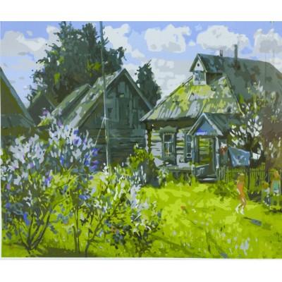Картина по номерам 40х50,  'деревня' арт.:6054EOTG_O
