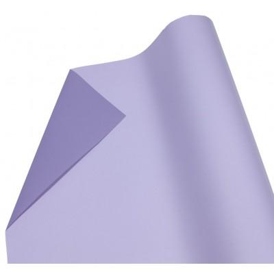 Пленка матовая для цветов двусторонняя  свет. сиреневый+бледно фиолет арт.:P2TD-08