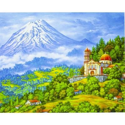Картина по номерам 'Фудзияма' 40*50см,крас.-акрил,кисть-3шт. арт.:5100