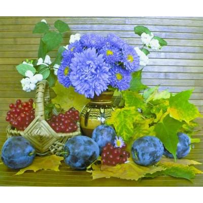 Картина по номерам 'Осенний натюрморт' 40*50см,крас.-акрил,кисть-3шт.. арт.:5366