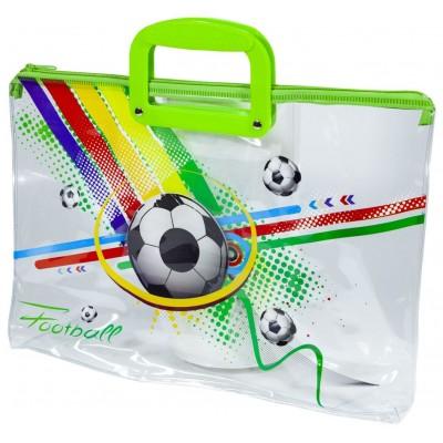 Папка портфель прозрачная 'Футбол' 28х39см, 30 мик, 33-F арт.:33-F