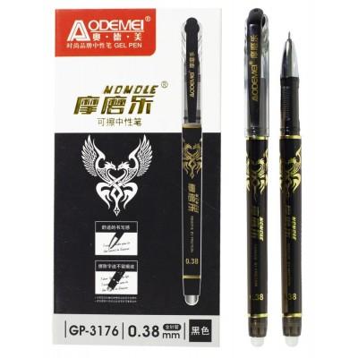 Ручка стираемая  игольч. 0.38 Черн темп исчез., GP-3176-BK