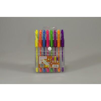 Ручки гелевые неоновые 8цв, Unison, арт.:M-1501-8