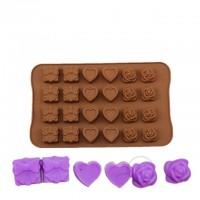 Форма силиконовая для льда и конфет Подарок из 24 шт.